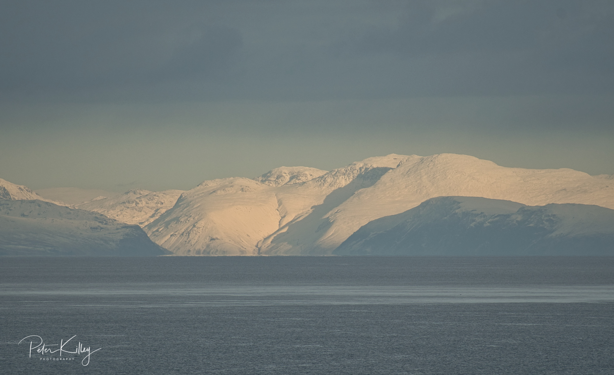 Cumbrian Mountains from IOM - © Peter Killey - www.manxscenes.com