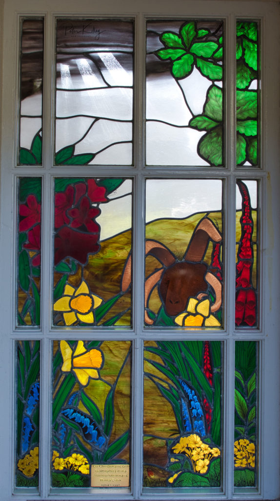 Stained Glass Window, Cregneash - © Peter Killey - www.manxscenes.com