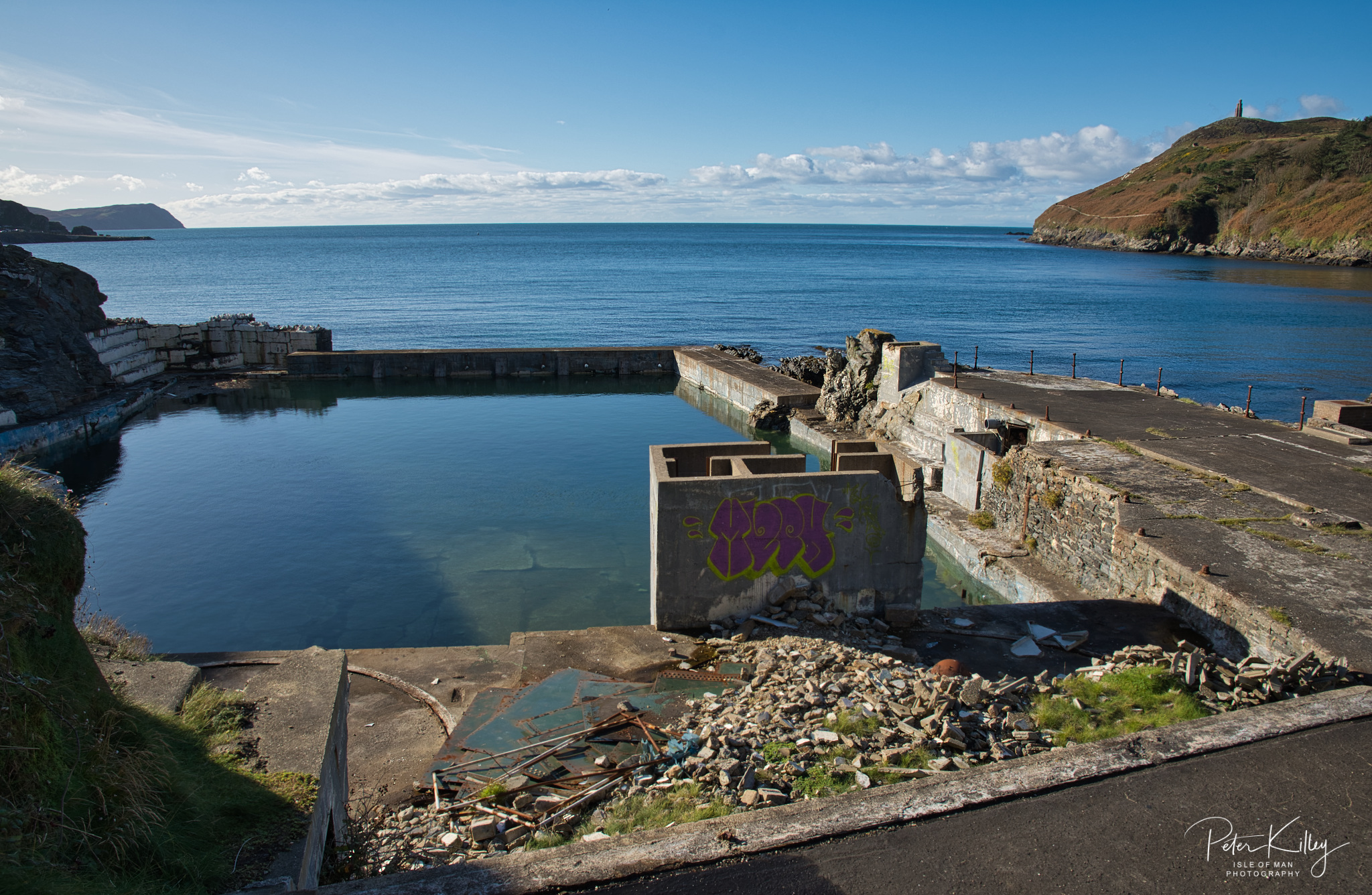 Old Port Erin Swimming Pool - © Peter Killey - www.manxscenes.com