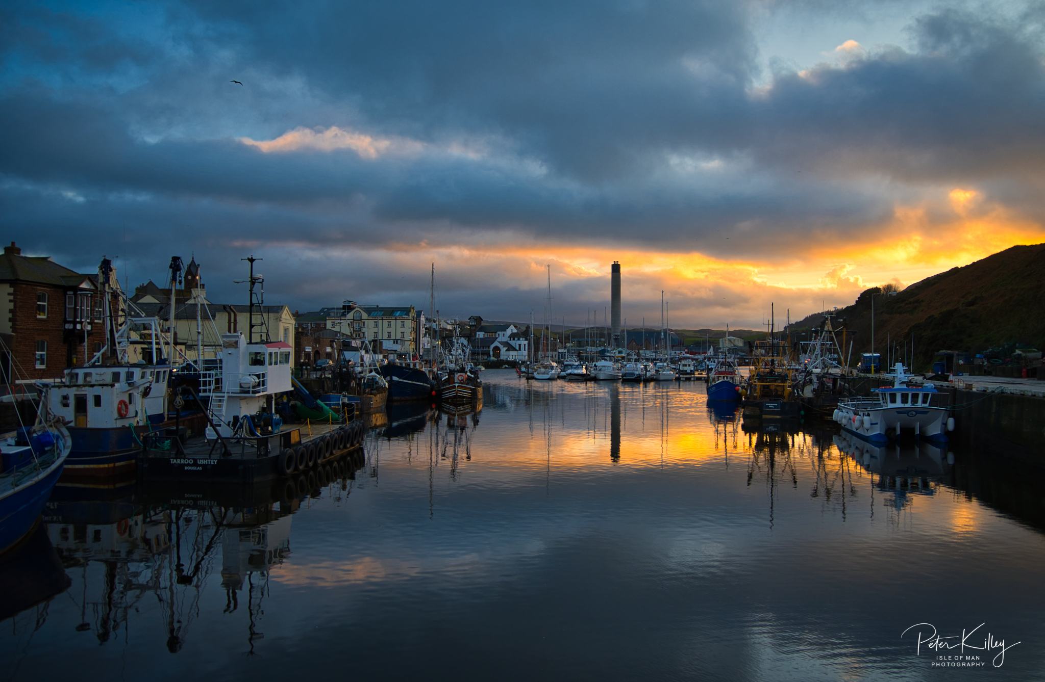 Peel Marina Sunset - © Peter Killey - www.manxscenes.com