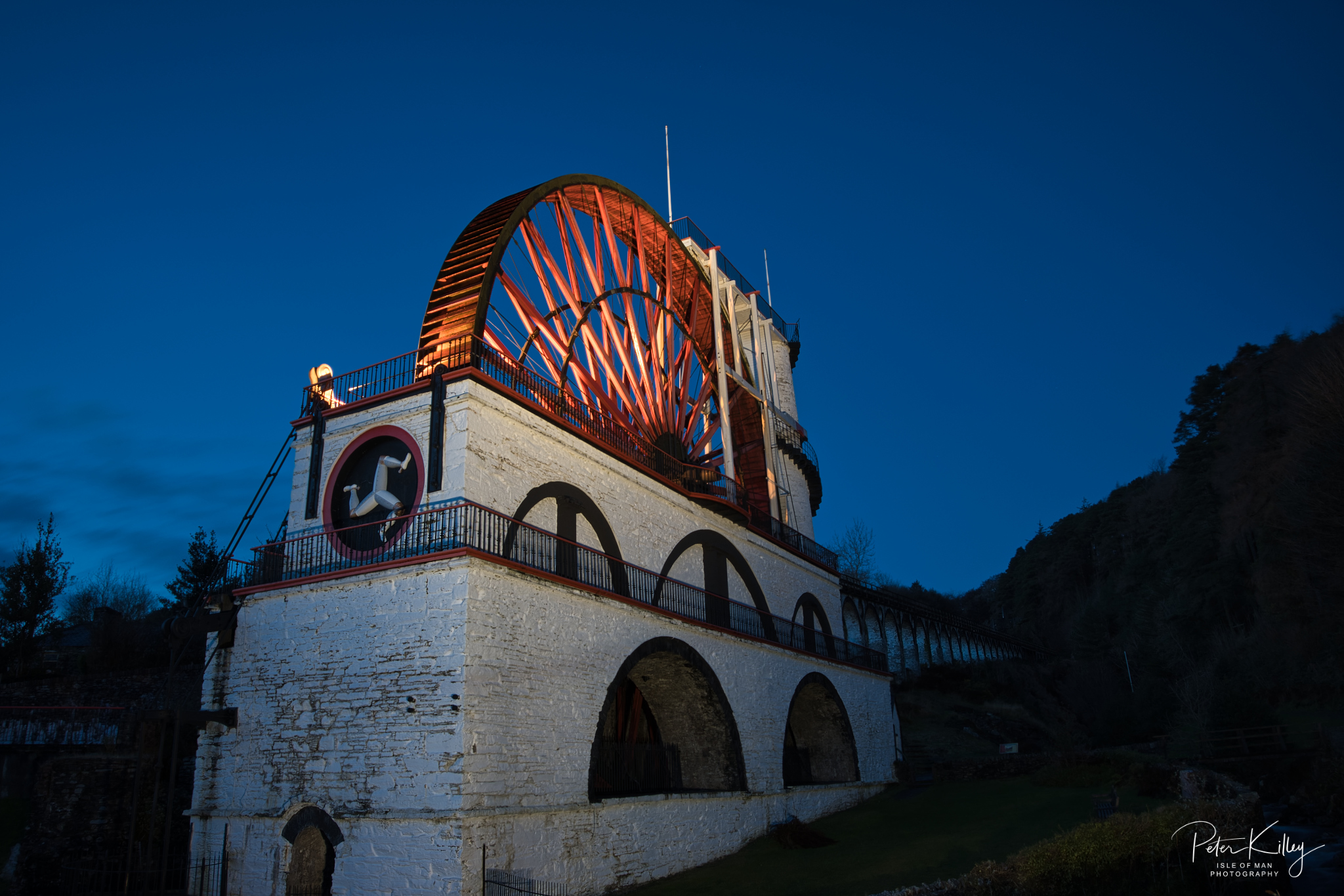 Blue Hour @ Laxey Wheel - © Peter Killey - www.manxscenes.com