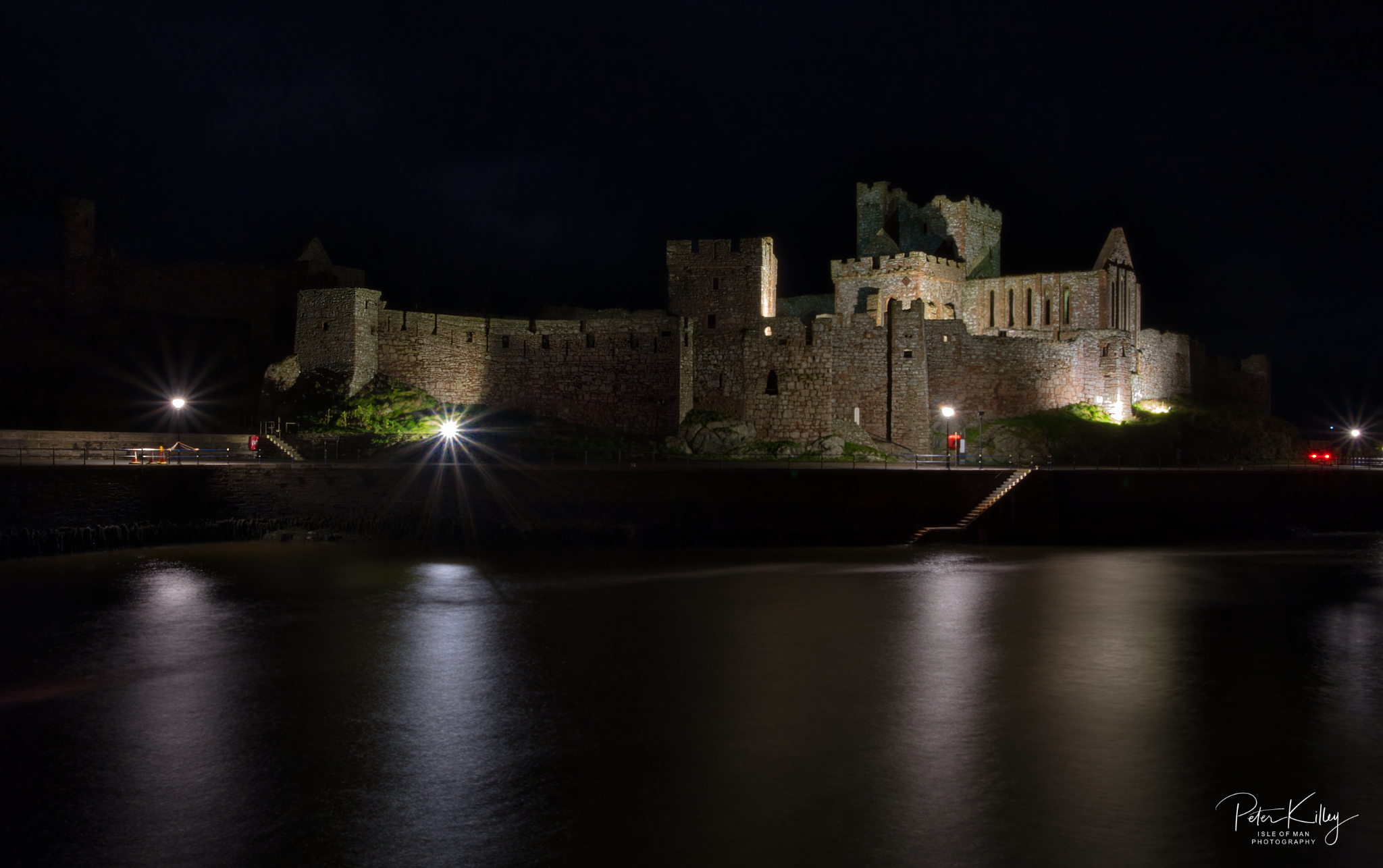 Peel Castle @ Night - © Peter Killey - www.manxscenes.com