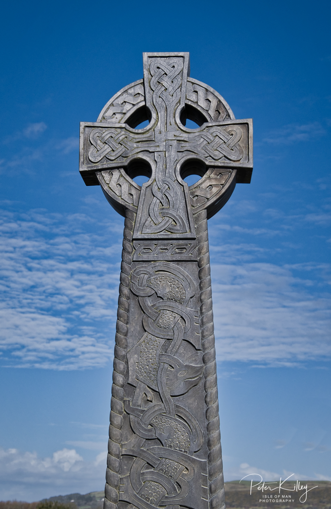 Manx Celtic Cross - © Peter Killey - www.manxscenes.com