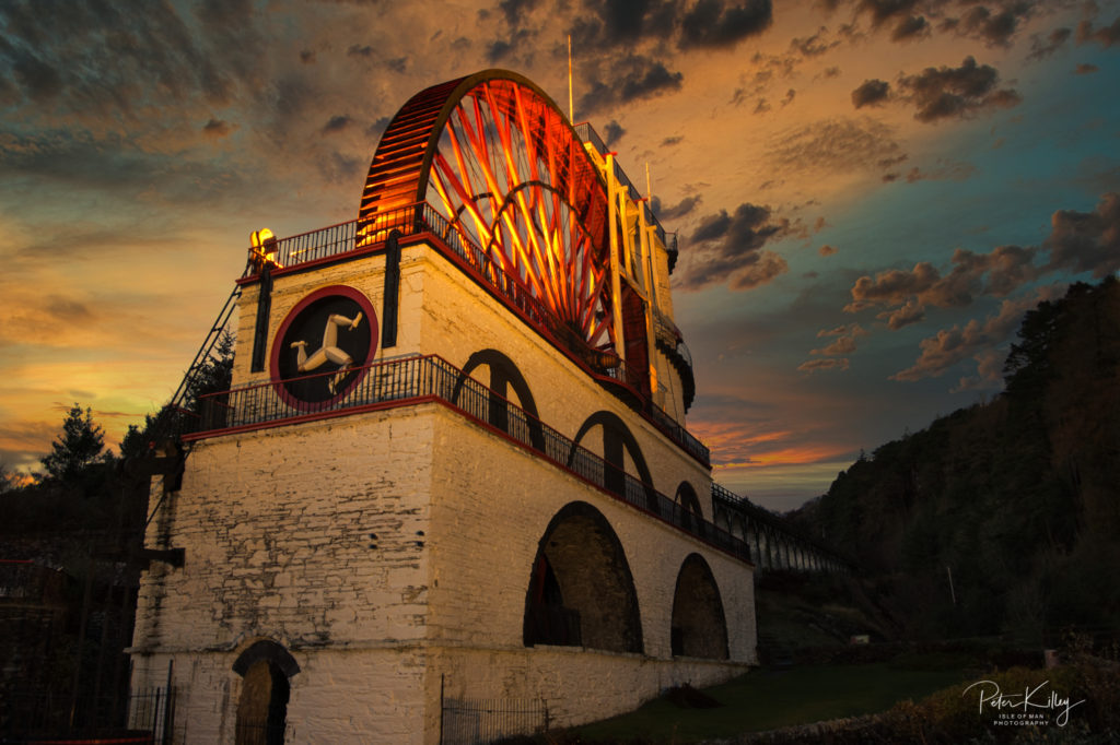 Last Light at Laxey Wheel - © Peter Killey - www.manxscenes.com