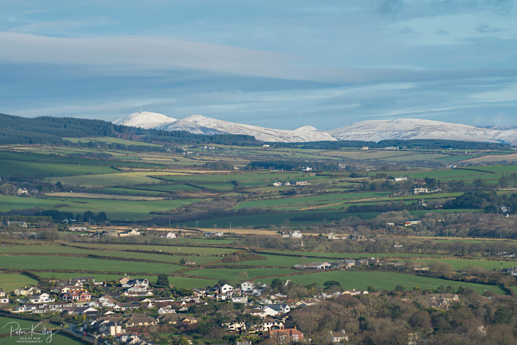 Snow Capped Snaefell - © Peter Killey - www.manxscenes.com