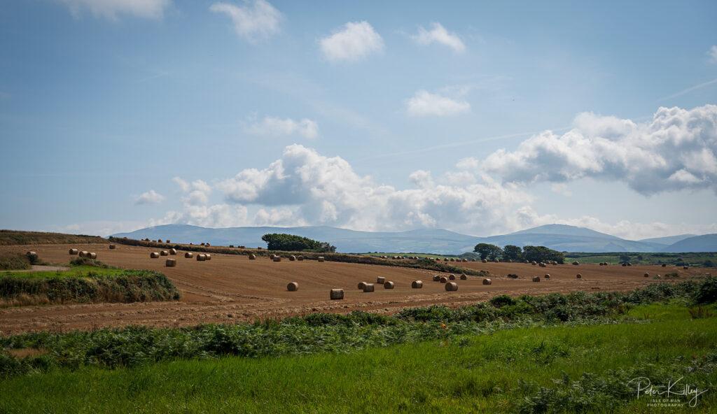 Hay Bales at the Lhen - © Peter Killey - www.manxscenes.com