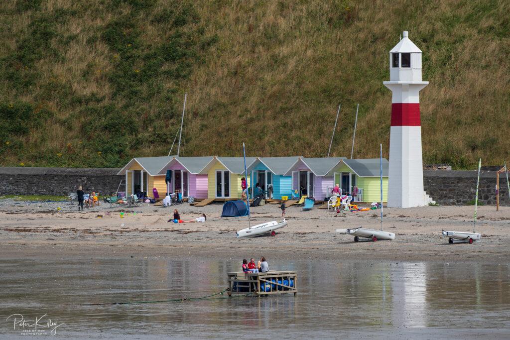 Beach Huts Port Erin - © Peter Killey - www.manxscenes.com