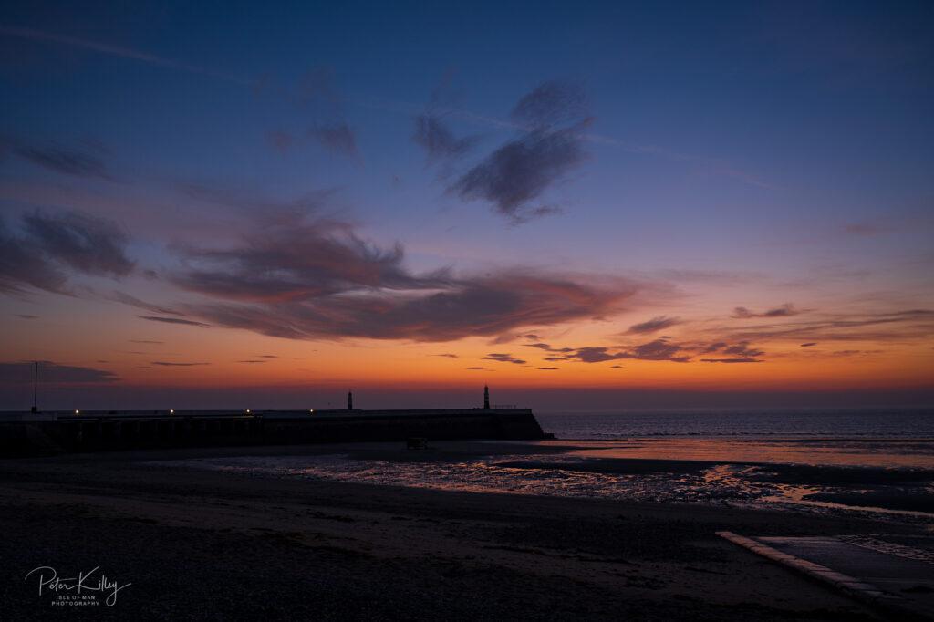 Ramsey Piers Sunrise - Isle of Man - © Peter Killey - www.manxscenes.com